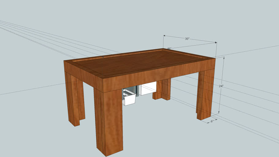 Kids Play Table Mock Up