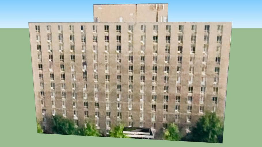 Gebouw in Detroit, Michigan, Verenigde Staten