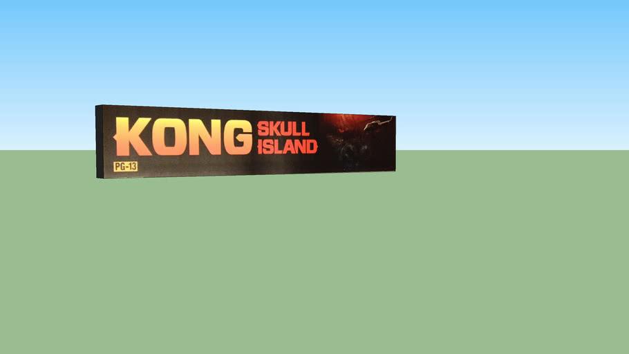 Kong Skull Island - Original Movie 5x25 Mylar Poster with Lightbox