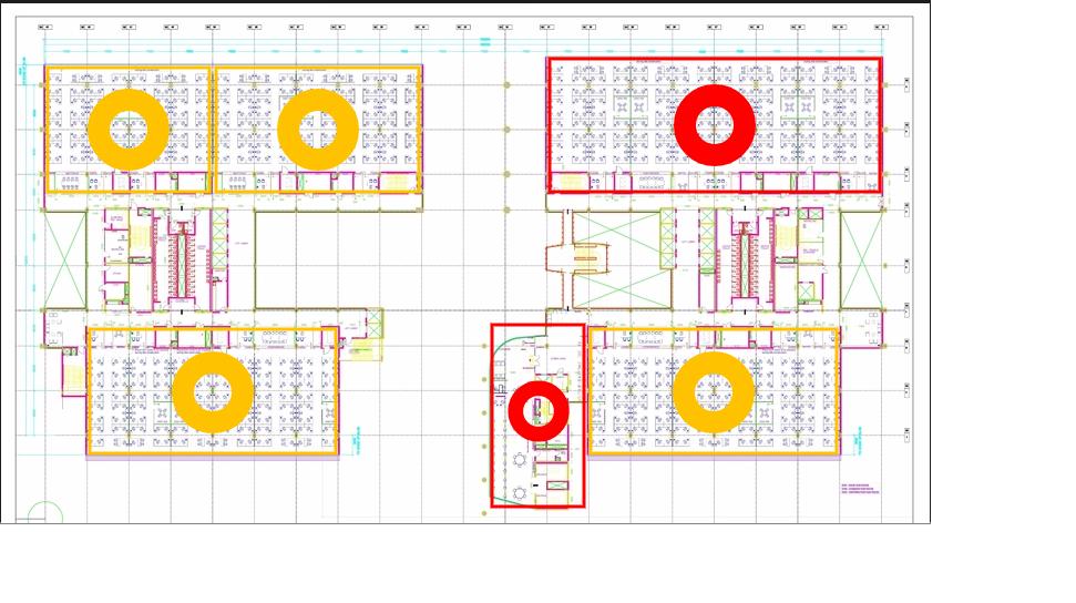 2D floor occupancy floor drawing