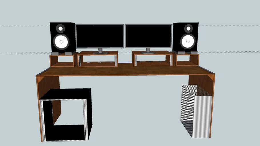 Spiksplinternieuw FUnKNUg Productions LLC Simple Home Studio Desk | 3D Warehouse MV-52