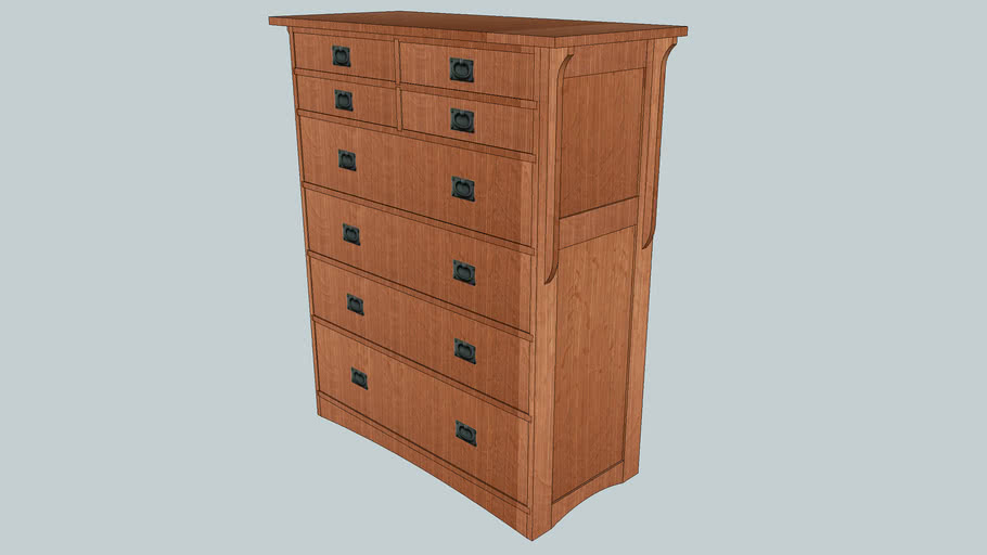 Mission Style Chest of Drawers