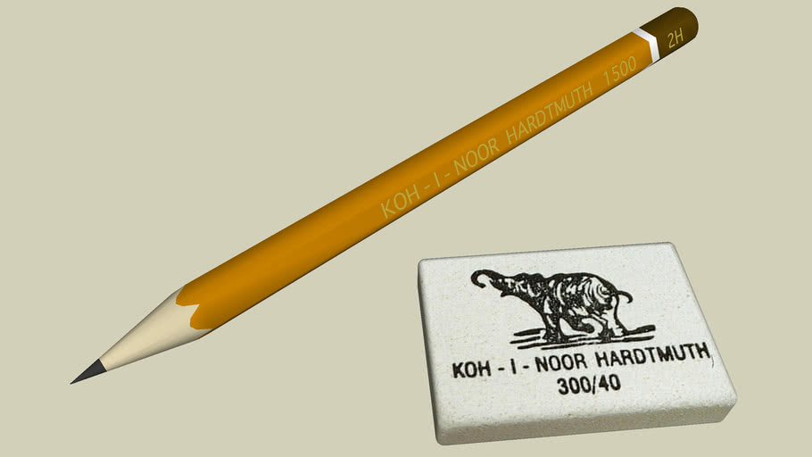 KOH - I - NOOR HARDTMUTH Pencil and Rubber