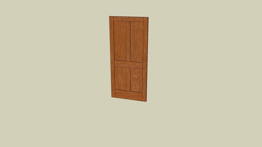 Recessed Paneled Door