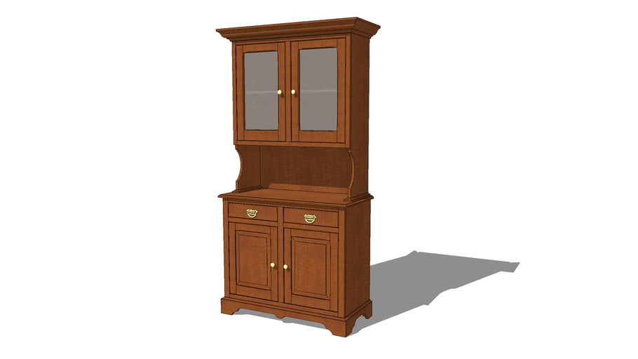Colonial Style China Cabinet