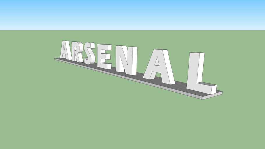 Arsenal sign outside the emirates