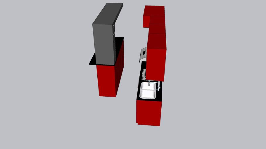 muebles cocina doble fregadero