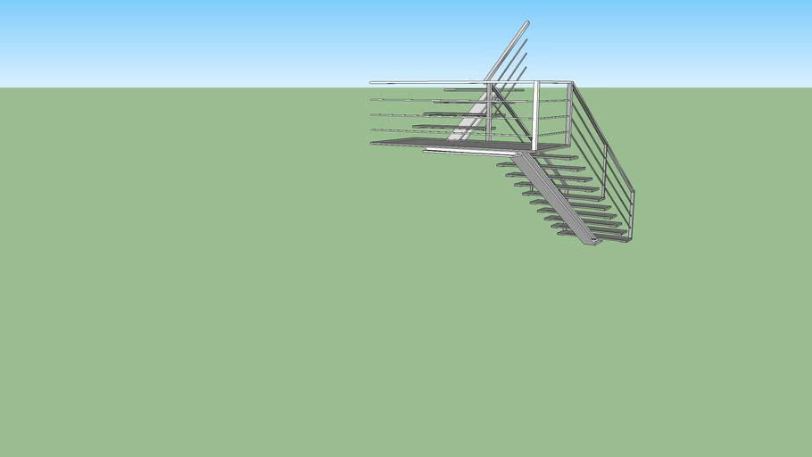 Stairs 180º turn