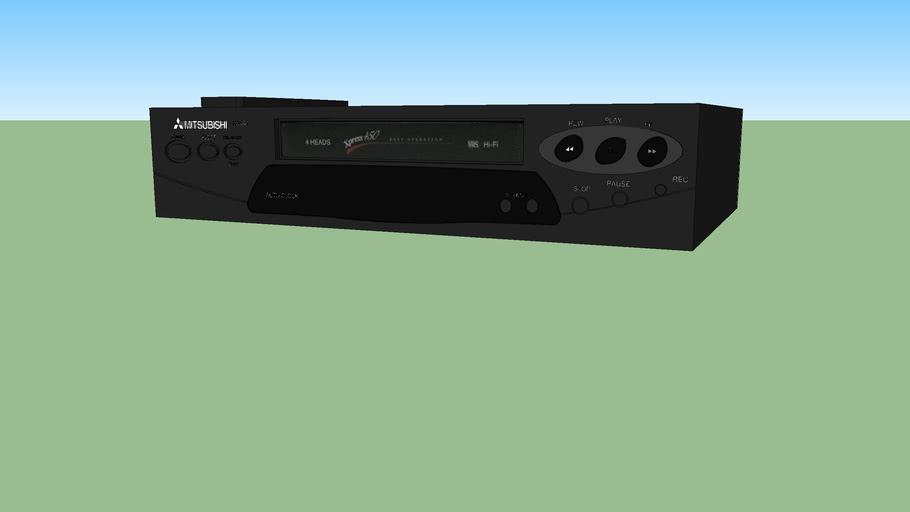 Mitsubishi VHS VCR (model HS-G21)