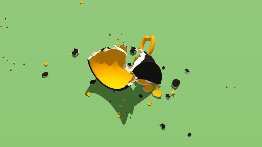 The broken cup \\\ Разбитая чашка