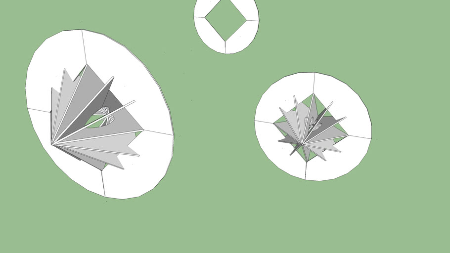 12 sided conoid with bisecting circle