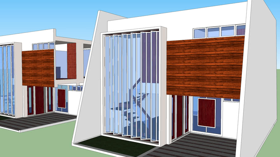 SIMPLE TWO STOREY RESIDENTIAL UNIT