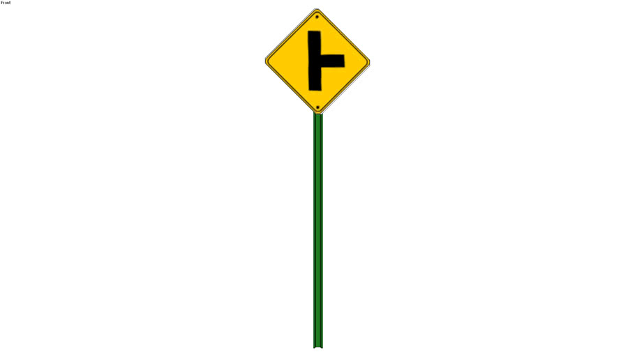 T intersection sign