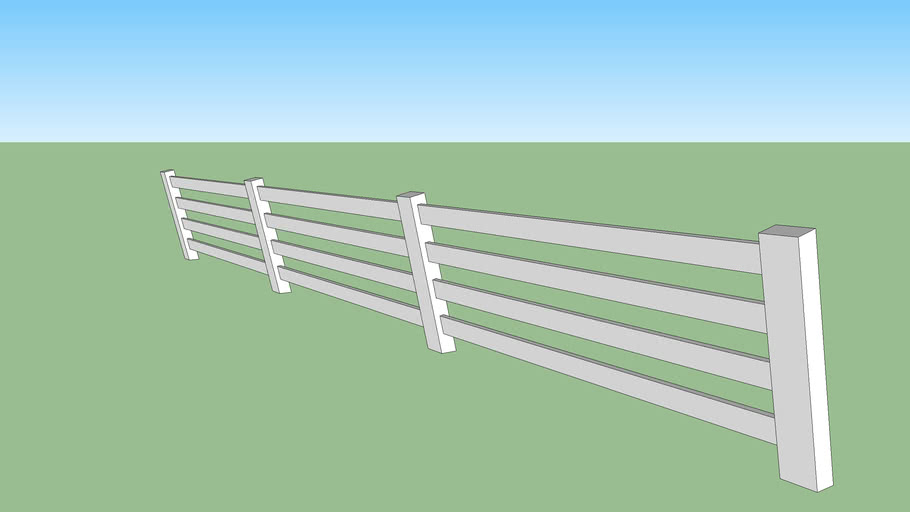 long fence for horse riding school