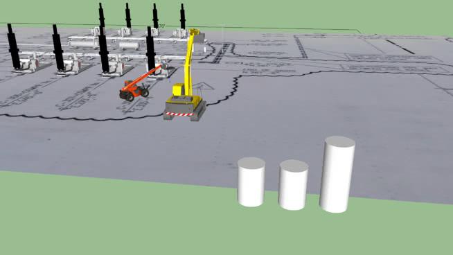 Compressor booster station
