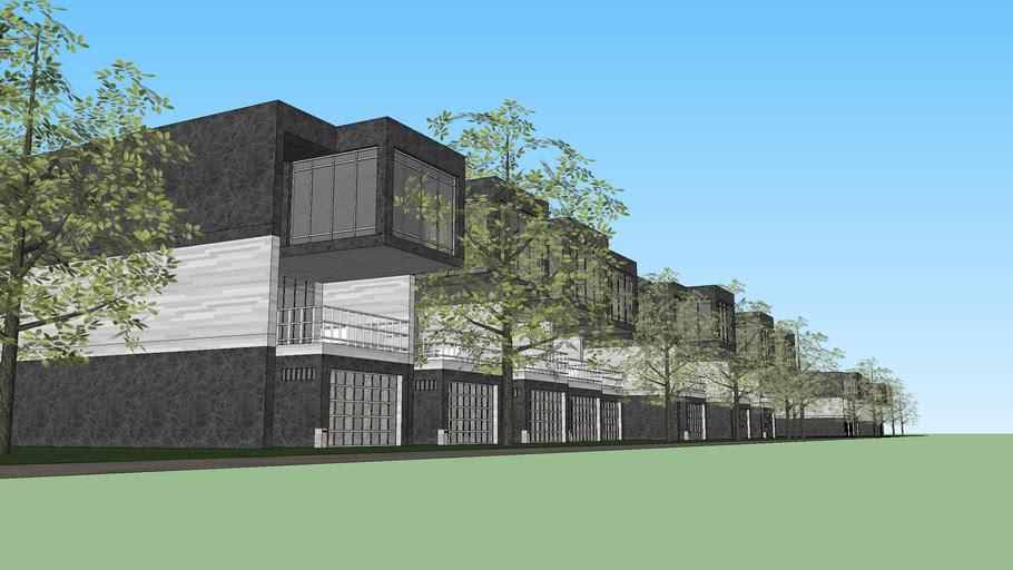 Modern rowhousing...