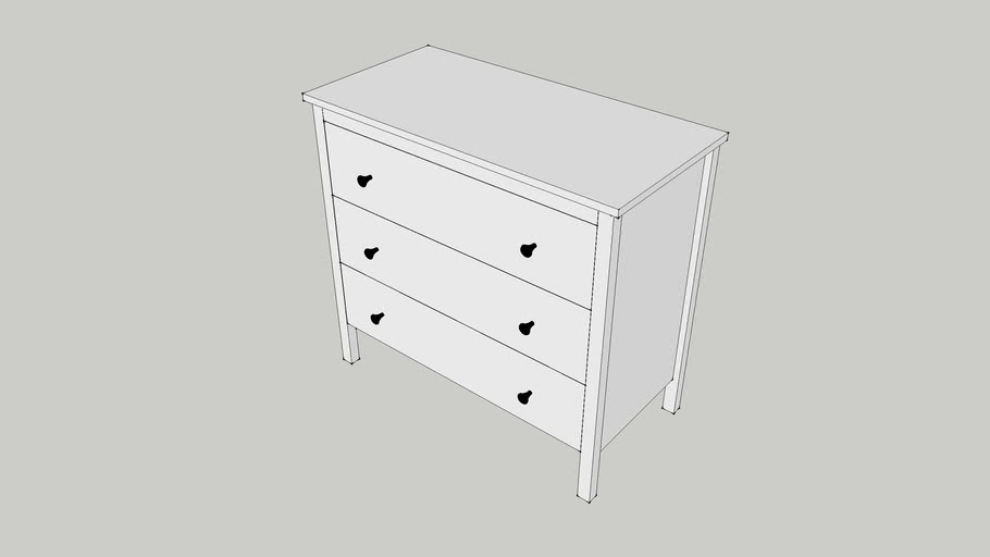 IKEA KOPPANG 3 drawer chest, white