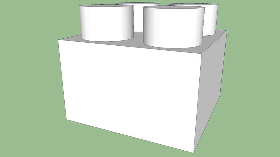brique lego blanche