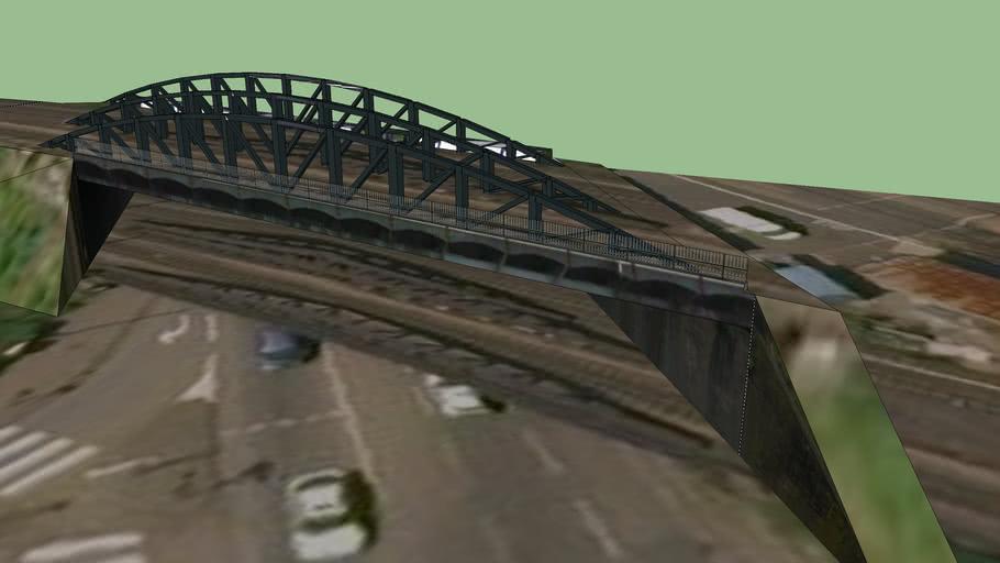 pont ferroviaire et talus SNCF  avenue de l'amphitheatre Metz