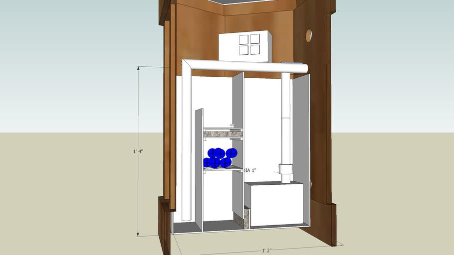 Wet - Dry Filter for 22 Gallon Hexagon Tank