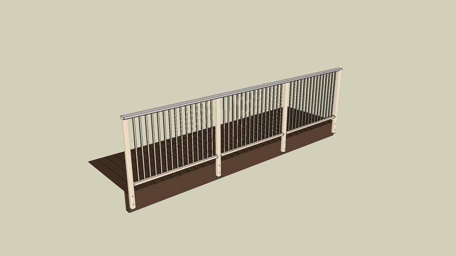 11 DesignRail® Aluminum Railing System with Picket Infill - Fascia Mount