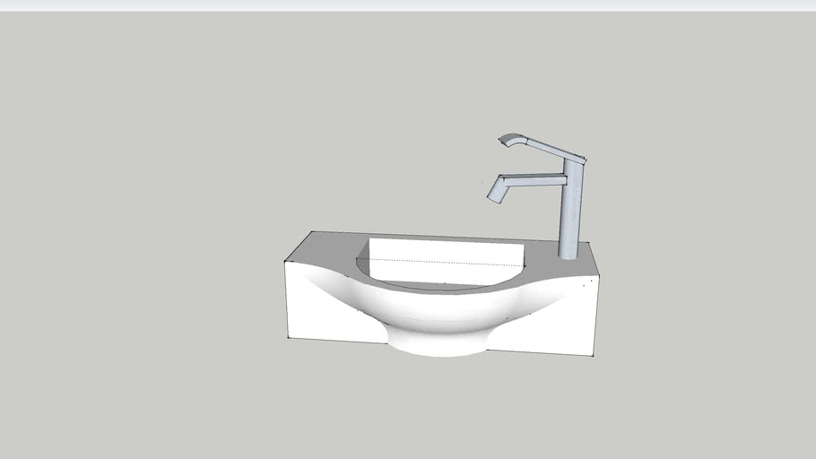 HIB Reno cloakroom sink with tap