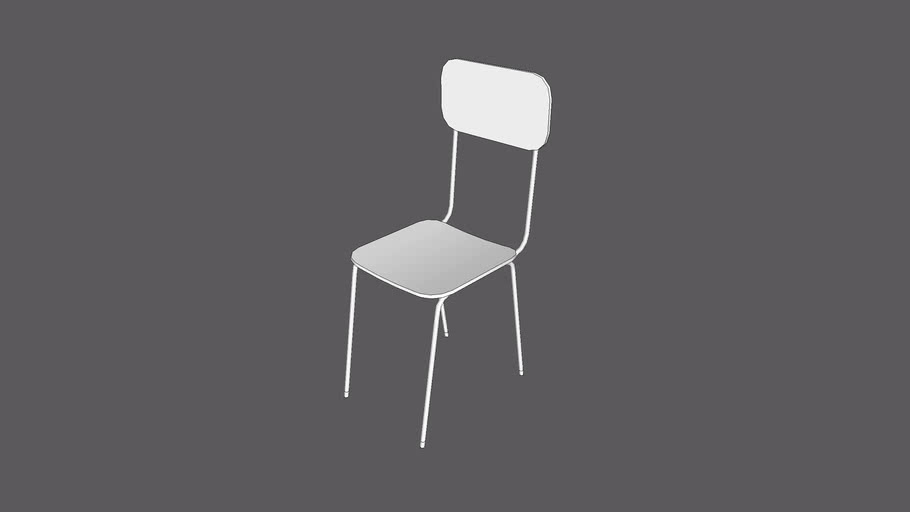 School Chair For Students 2 322Polygons