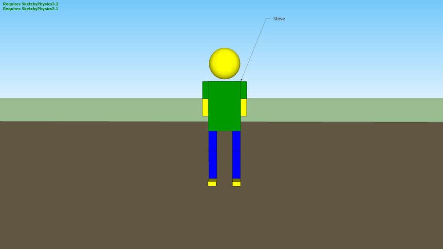 Steve the Crash Test Dummy! (sketchyphysics)