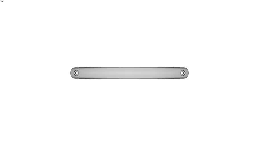 Poign�e ellipse aluminium - Al�s�e - Pellicul� noire