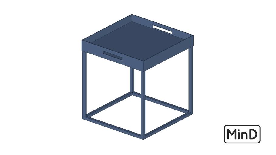 Mesa com bandeja removível azul