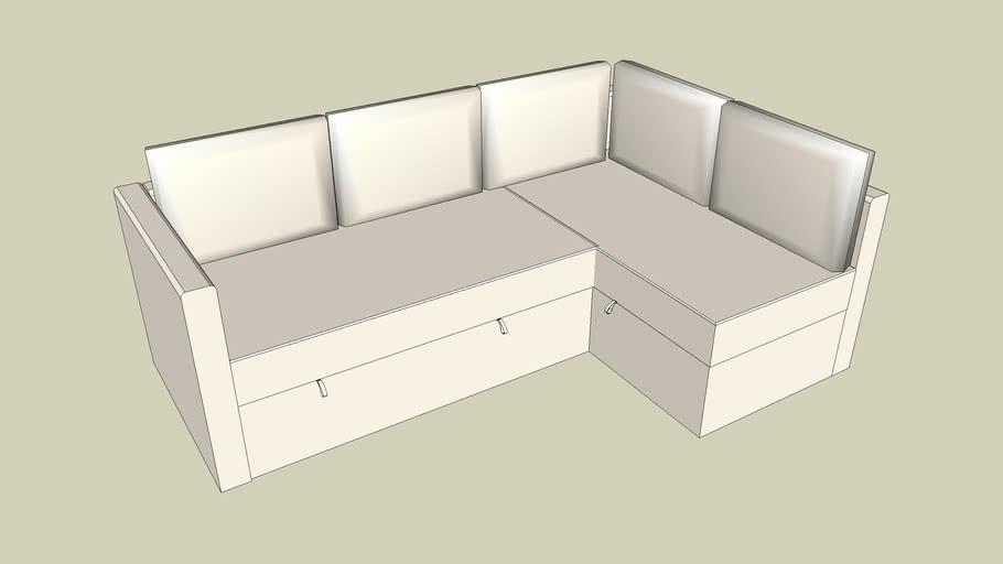 Ikea Fagelbo Canape D Angle Convertible 3d Warehouse