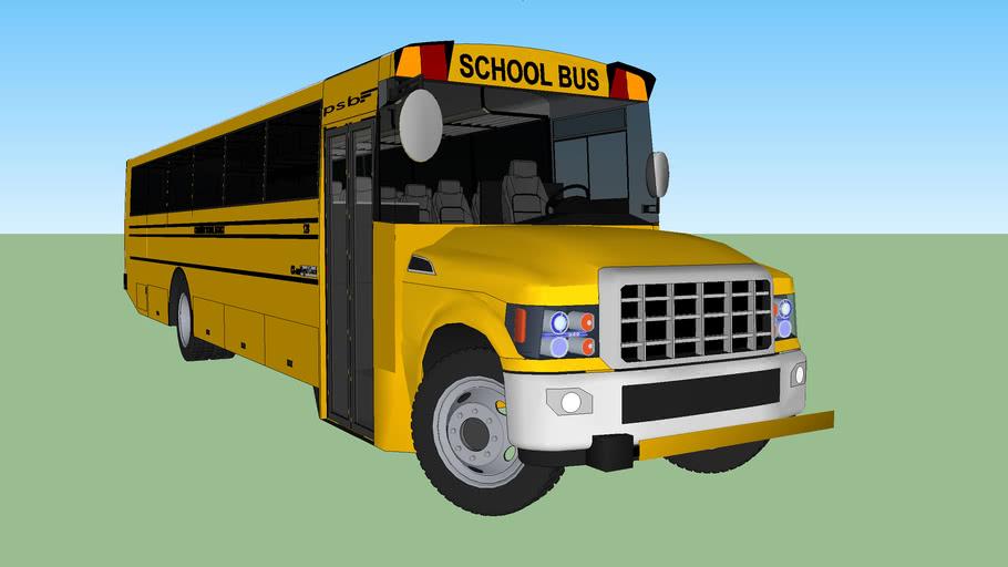 School Bus with interior
