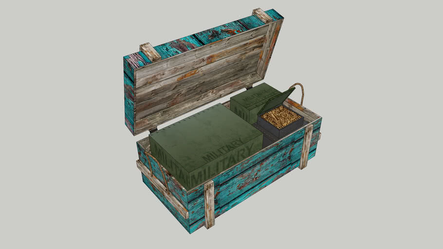 Military chest with ammunition