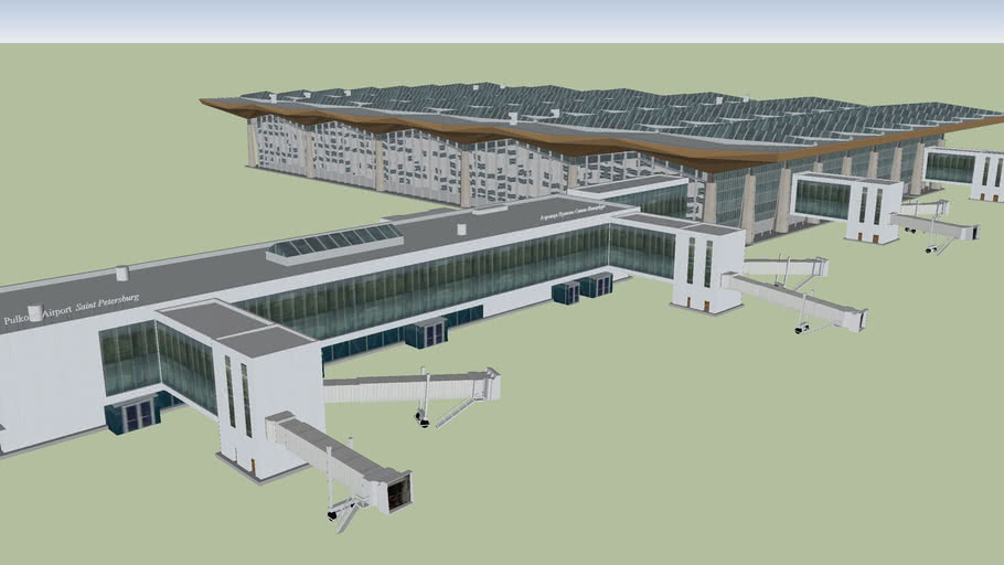 New Pulkovo airport terminal (St. Petersburg, Russia)