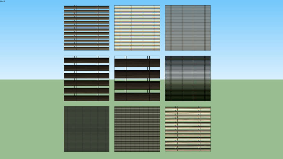 Venetian Window Blinds Set 01 (2D Transparent)