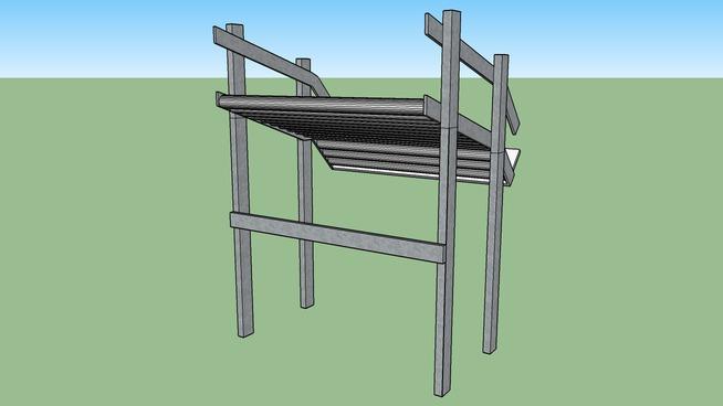 Single Level Roll Shelf