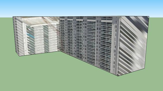 迈阿密滩, 佛罗里达, 美国的建筑模型