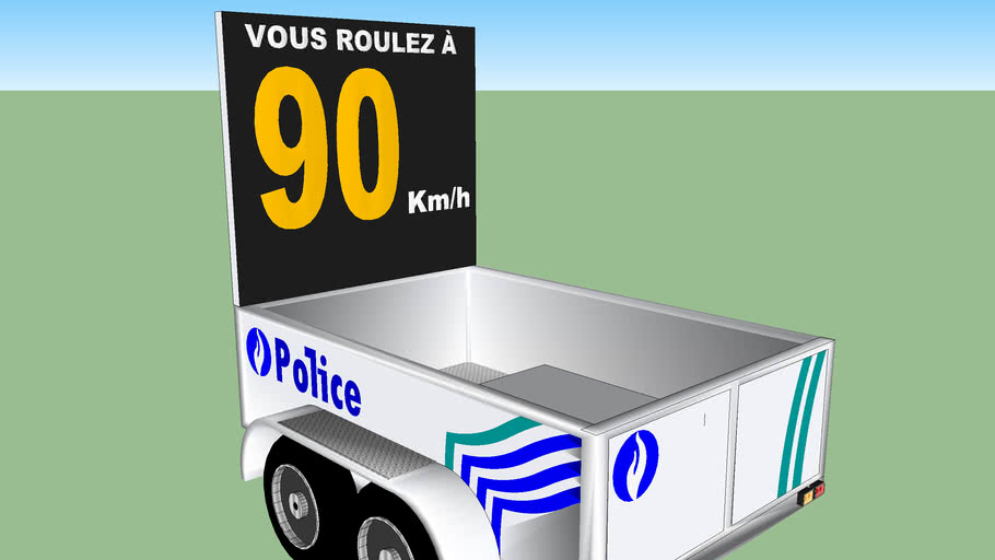 Remorque radar - Police Belgique
