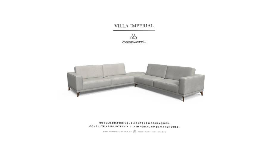 Sofá Arsie - 4 Assentos mais  Puff Canto   Villa Imperial - Casa Vetti