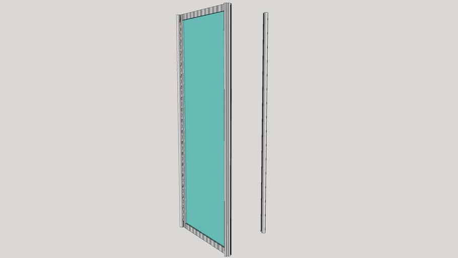 Shower Door w/ Magnetic Closure