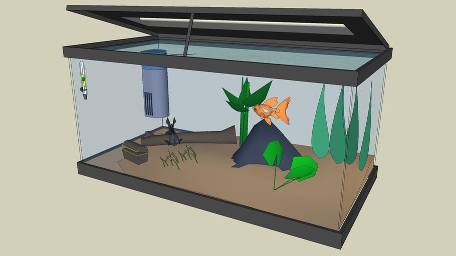 3D Challenge #14 - Fish tank - Sushi's Tank v2.0