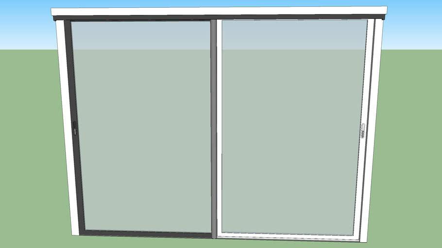 Baie vitrée 300/215 alu gris