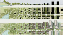 Conventional and form/transect/TND zoning graphics