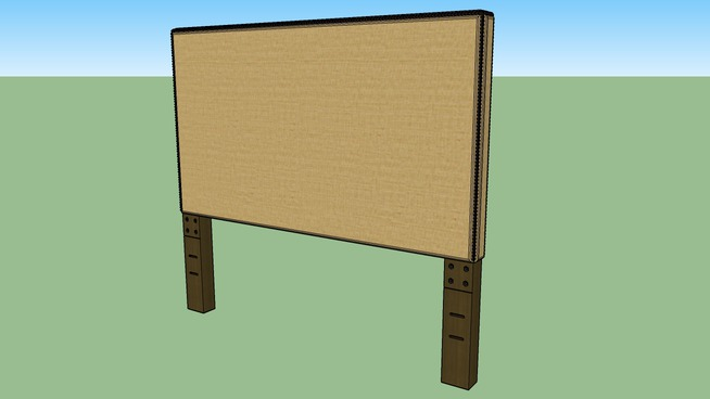 nailhead upholstered headboard (twin 36)