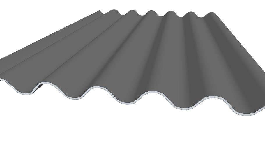 Plaque ondulée fibre-ciment 6 ondes - 1,58M