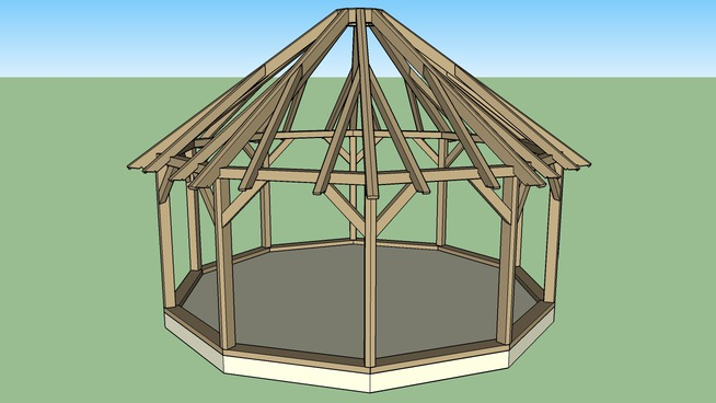 Timber Frame Yurt
