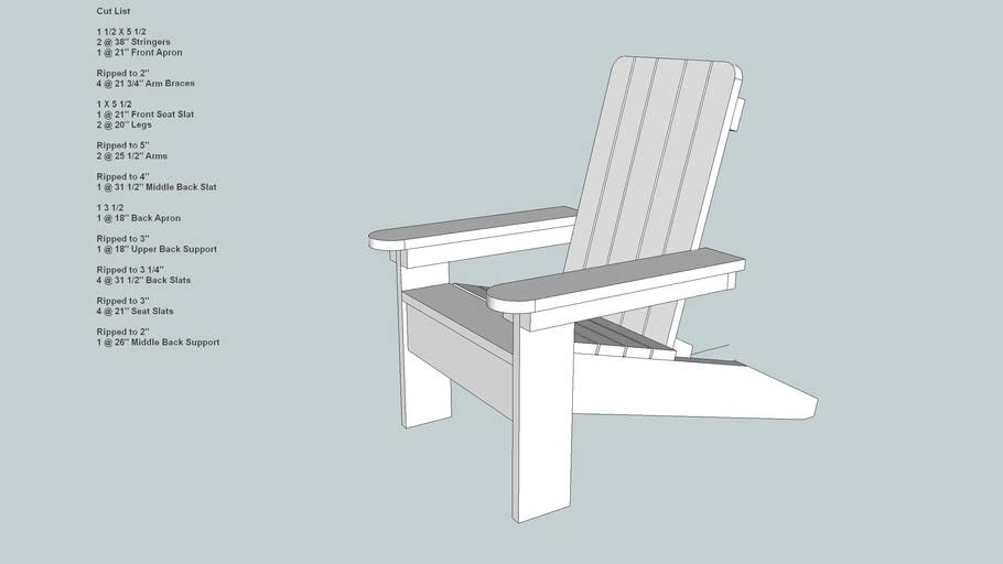 Big Childs Adirondack Chair