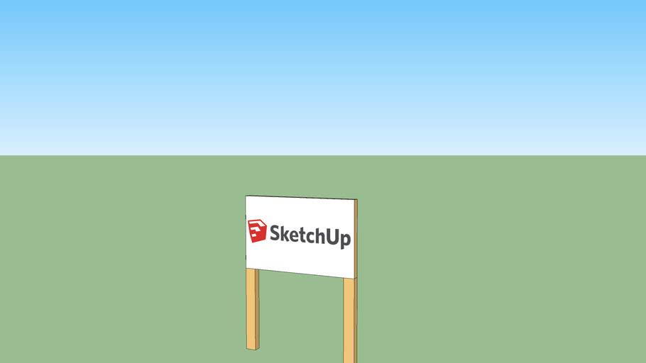 small sketchup billboard