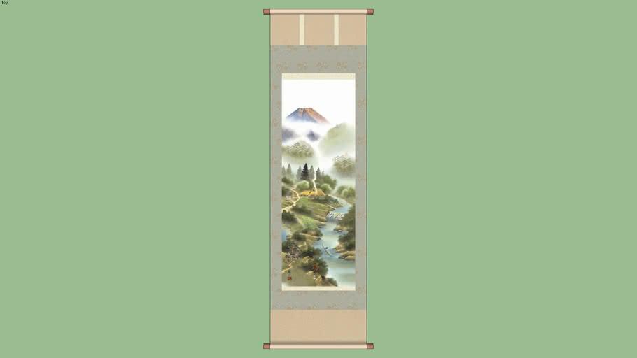 Kakejiku hanging scroll - mountain scene