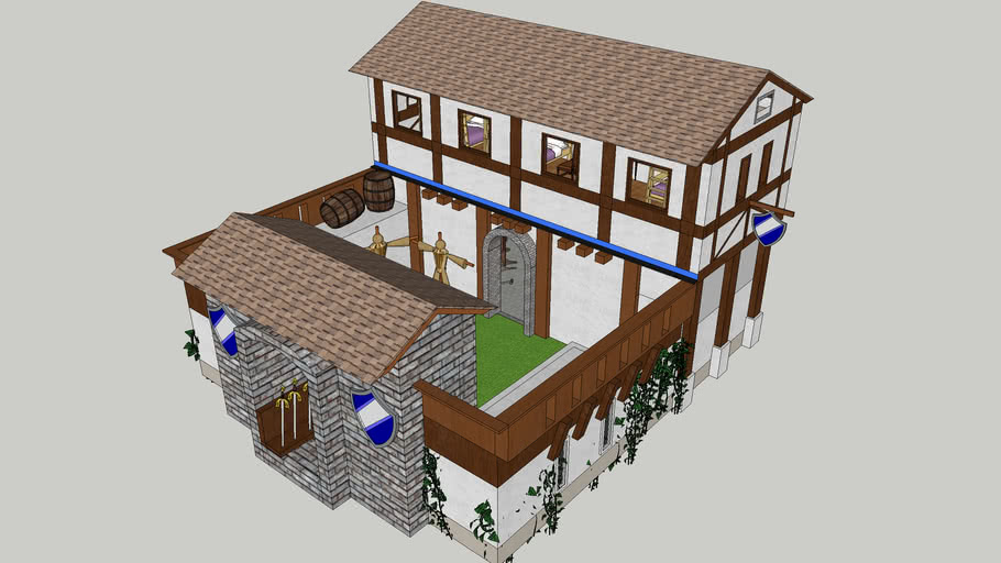 Age of Empires 2 Barrack (Detailed)